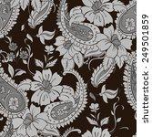 vector flower paisley seamless... | Shutterstock .eps vector #249501859