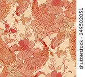 vector flower paisley seamless... | Shutterstock .eps vector #249502051