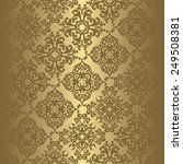 Vintage seamless background in a gold. Can be used as background for wedding invitation