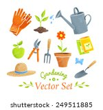 Gardening Equipment Vector Set...