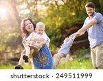 happy young family spending...   Shutterstock . vector #249511999