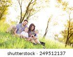 happy young family spending... | Shutterstock . vector #249512137