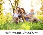 happy young family spending...   Shutterstock . vector #249512269