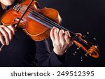 playing the violin. musical... | Shutterstock . vector #249512395