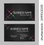 business card. flat design....