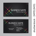 business card. flat design....