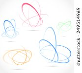 bright swirl atom orbit element ... | Shutterstock .eps vector #249514969