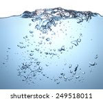 beautiful wave and bubbles of... | Shutterstock . vector #249518011