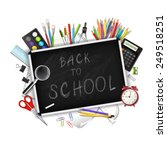 back to school background with... | Shutterstock . vector #249518251