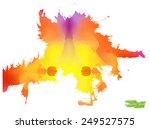 a handmade blot blob with... | Shutterstock .eps vector #249527575