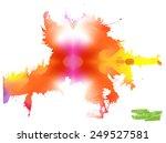 a handmade blot blob with... | Shutterstock .eps vector #249527581