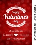 happy valentines day party... | Shutterstock .eps vector #249530851
