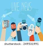 journalism concept vector... | Shutterstock .eps vector #249531991