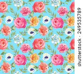 watercolor seamless pattern... | Shutterstock . vector #249535789