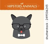 fashion portrait of hipster cat ... | Shutterstock .eps vector #249536245