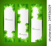 set banner ecology illustration ... | Shutterstock .eps vector #249536329