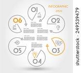 hexagonal infographic linear... | Shutterstock .eps vector #249539479