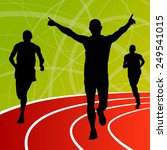 active men runner sport... | Shutterstock .eps vector #249541015