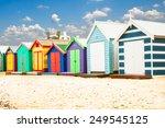 beautiful bathing houses on... | Shutterstock . vector #249545125