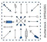 a set of cute hipster arrows ... | Shutterstock .eps vector #249561001