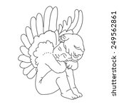 angel or cupid isolated hand... | Shutterstock .eps vector #249562861