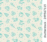 baby toys seamless pattern.    Shutterstock .eps vector #249567115