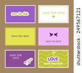 Set Of Romantic Save The Date...