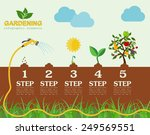 garden work infographic... | Shutterstock .eps vector #249569551