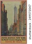 1930s poster shows bird's eye... | Shutterstock . vector #249572047