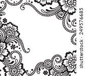 white flower corner  lace... | Shutterstock .eps vector #249576685