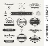 set of retro brand vintage... | Shutterstock .eps vector #249582484
