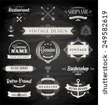 set of retro vintage badges ... | Shutterstock .eps vector #249582619