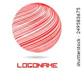 sphere abstract vector logo... | Shutterstock .eps vector #249583675