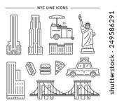New York City Icon Vector Set