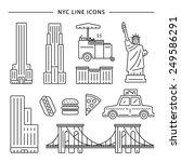 New York City Icon Vector Set