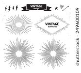set of vintage sun burst.... | Shutterstock .eps vector #249600109