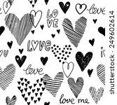 heart pattern  vector seamless... | Shutterstock .eps vector #249602614