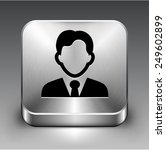 man in business suit on silver... | Shutterstock .eps vector #249602899