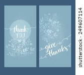 card with the words thank you | Shutterstock .eps vector #249607114