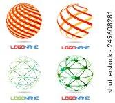 sphere abstract vector logo... | Shutterstock .eps vector #249608281