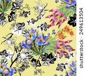 seamless floral pattern on... | Shutterstock . vector #249613504