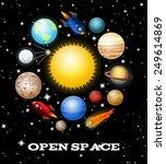 set of open space elements.... | Shutterstock .eps vector #249614869