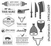set of vintage labels templates ... | Shutterstock .eps vector #249616609