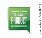 organic product pointer sign... | Shutterstock .eps vector #249618811