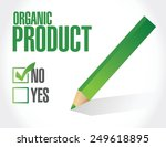 no to organic products check... | Shutterstock .eps vector #249618895
