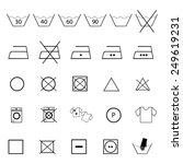 washing symbols icons set | Shutterstock .eps vector #249619231