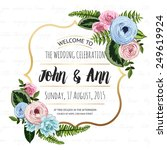 wedding invitation card with... | Shutterstock .eps vector #249619924