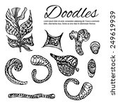 doodle elements black   sketch | Shutterstock .eps vector #249619939