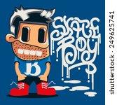 cool kid vector | Shutterstock .eps vector #249625741