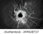 Bullet Shot Cracked Hole On Car ...